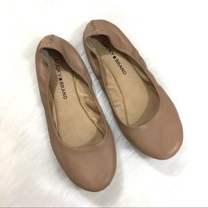 Lucky Brand Nude flats, Size 7.5